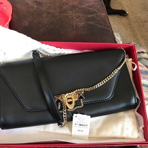 Valentino Demilune Calf Leather Shoulder chain bag